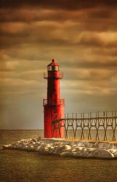 "great lakes lighthouses | Algoma Lighthouse - Wisconsin - Great Lakes | ""Lighthouses"""