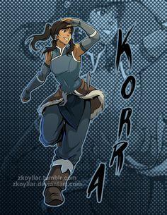 Korra- Fanart by zkoyllar.deviantart.com on @DeviantArt
