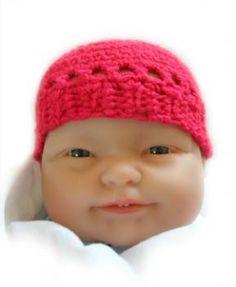 "Preemie Beanie free crochet pattern - 10"" diameter"