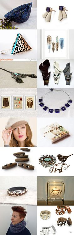 Cold Weather Comfort by Julia on Etsy-  Lovely Etsy Treasury by Fibernique....  Great handmade gifts.... Lovely handmade blue basket.-Pinned with TreasuryPin.com