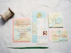 wedding invitations from miami wedding http://trendybride.net/miami-florida-wedding-magazine-feature/ featured in trendy bride magazine
