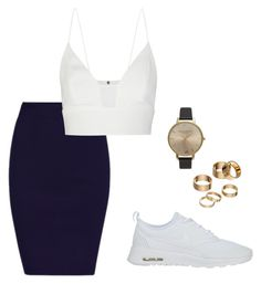 """S3 x"" by mimmcgowan on Polyvore featuring NIKE, Narciso Rodriguez, Apt. 9 and Olivia Burton"