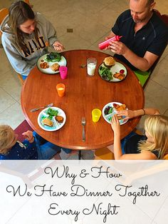 Family dinner table. Why and how we have dinner together every night. The importance of connecting at the dinner table. #FindYourBold #ad