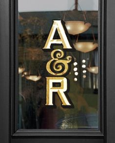 Sleek Signage - gold-and-black vinyl decals adorned the main door, letting guests know they were in the right spot for the day's festivities. Wedding Gallery, Wedding Blog, Wedding Wishes, Wedding Ideas, Rustic Wedding Centerpieces, Wedding Decorations, Wedding Signage, Wedding Venues, Wedding Reception