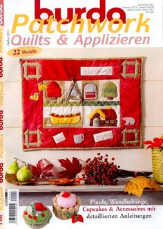 """Photo from album """"Burda patchwork on Yandex. Book Crafts, Paper Crafts, Diy Crafts, Cathedral Quilt, Patchwork Tutorial, Sewing Magazines, Fat Quarter Quilt, Cross Stitch Magazines, How To Make Purses"""