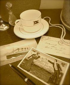 DIY vintage postcards for Titanic tea party
