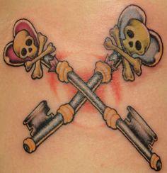 ... keys tattoo tattoo 2 tattoo piercing thoughtful tattoos skeleton key
