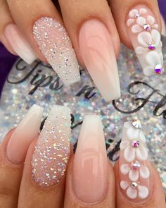 37 Creative Winter Nail Designs: Beste Muster im Jahr 2019 - - You are in the right place about wedding nails acrylic white Here we offer you the most beautiful pictures about the wedding Prom Nails, Wedding Nails, Long Nails, Nails For Homecoming, Wedding Acrylic Nails, Fancy Nails, Diy Nails, Classy Nails, Simple Nails