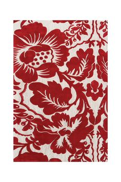 Sebastian Wool & Art Silk Rug - Red/Ivory