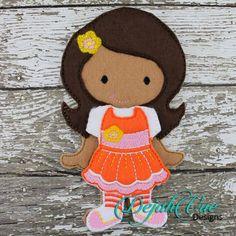Orange Flower Doll - Dejah Vue DesignsDejah Vue Designs