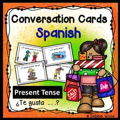 Spanish Verb Gustar: 32 Conversation Cards with directions for mingle activities.