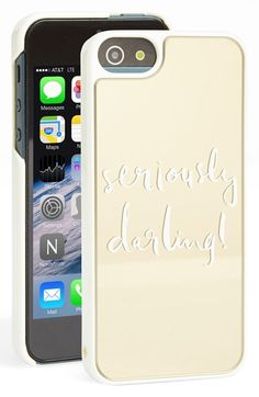 kate spade new york 'seriously darling' iPhone 5 & 5s iPhone case available at #Nordstrom