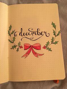 December Bullet Journal cover page Bullet Journal Month Cover, Bullet Journal And Diary, December Bullet Journal, Bullet Journal Writing, Bullet Journal Ideas Pages, Bullet Journal Layout, Bullet Journal Inspiration, Journal Pages, Calendar Journal