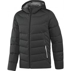 129564e42b1 Мужской пуховик Adidas Stretch AY4099 • Мужская зимняя куртка на  натуральном утеплителе • Вшитый капюшон регулируется