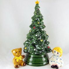 Vintage Avon Merry Christmas Tree Hostess Set 1979