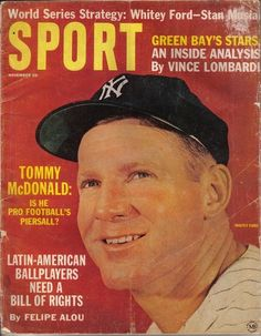 1963 (Nov.) Sport magazine, Baseball, Whitey Ford, New York Yankees ~ Fair #Magazine