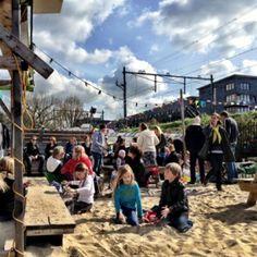 Stadsstrand de Oerkap in Haarlem #tip #kids #haarlem