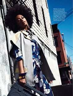 Print Princess Solange Knowles Mixes It Up with Glamour France for July