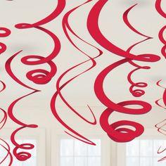 Rode Swirl Decoratie - Sisters in Wonderland