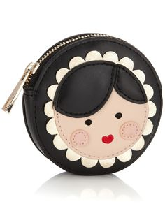 Russian Doll Coin Purse | Black | Accessorize