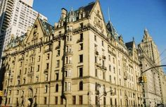 The famous 'Dakota' building located in Manhattan on Central Park West.