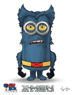 An excellent portrayal of Despicable Me's minions as fearsome and powerful mutants of Marvel's Uncanny X-MEN. Say hello to the X-Minions! Amor Minions, Cute Minions, Minion Movie, Minions Despicable Me, Minions Quotes, Minion Superhero, Minions Images, Funny Minion Pictures, Funny Images