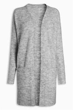 Buy Grey Cardigan With Alpaca Wool from the Next UK online shop Cotton Cardigan, Grey Cardigan, Alpaca Wool, Next Uk, Cardigans For Women, Uk Online, Cashmere, Chic, Stylish