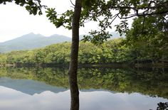 Lake like a mirror at Shiretoko Japan.