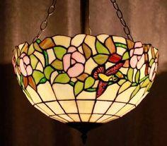Hummingbird Tiffany Ceiling Light
