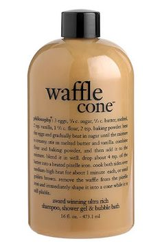 Waffle Cone Shampoo, Shower Gel, and Bubble Bath at Philosophy. Philosophy Products, Perfume, Beauty Care, Beauty Skin, Beauty Makeup, Body Spray, Up Girl, Smell Good, All Things Beauty