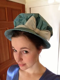 Frolicking Frocks: Regency Hat with a link to a tutorial on how to make one by Koshka the Kat