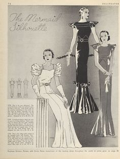 Butterick 5396, 5399 and 5386 in Delineator magazine, November 1933