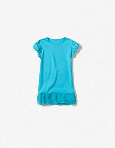 T-SHIRT WITH TULLE - T-shirts - Girl (2-14 years) - Kids - ZARA United States