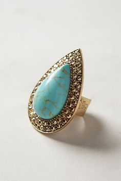 Turquoise Teardrop Ring by Samantha Wills