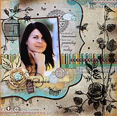 layout with Madame Boutique collection (Kaisercraft)