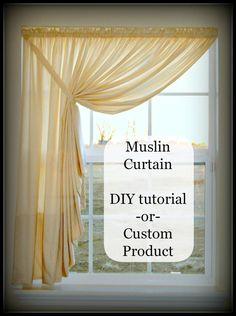 For Master BR with the silk sheers that I already have???? Easy DIY Pattern Tutorial for Muslin Swag Curtain