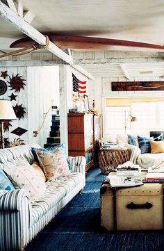 Rustic Americana in a seaside beach cottage from Ralph Lauren Home