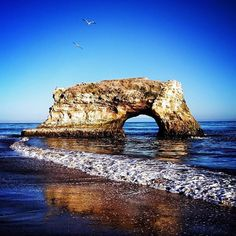 Natural Bridges State Beach takes up 65 beautiful acres in Santa Cruz, #California. Photo courtesy of cravenreviews on Instagram.