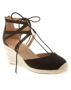 Lace-up espadrille wedge | Lane Bryant