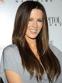 Kate Beckinsale hair. Love the color.