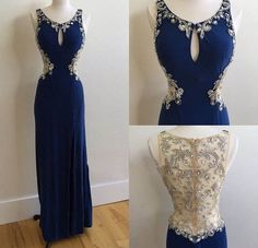 Beautiful Prom Dress, royal blue prom dresses royal blue prom dress silver beaded formal gown beadings prom dresses evening gowns chiffon formal gown for senior teens Meet Dresses Split Prom Dresses, Royal Blue Prom Dresses, Prom Dresses Long With Sleeves, Mermaid Prom Dresses, Dress Long, Prom Gowns, Ball Gowns, Beaded Prom Dress, Beaded Chiffon