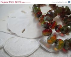 Hey, I found this really awesome Etsy listing at https://www.etsy.com/listing/199350597/onvacation-sale-red-rondelle-glass-beads