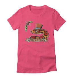 Fancy corn snake ladies tee shirt, custom colors