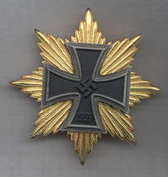 Star of the Grand Cross of the Iron Cross (1939) was to be Awarded to the most successful General in the Wehrmacht upon Germany's Triumphant Winning of W.W.II ( Needless to say it was never Awarded to Anyone .)