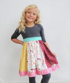 Cowboy Rodeo Three-Quarter Sleeve Dress - Infant, Toddler & Girls