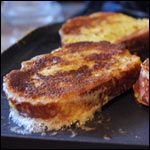 Amish-Style French Toast  (4 servings)    Printable Version    1 cup milk  4 large eggs  3/4 teaspoon cinnamon  1/4 teaspoon nutmeg  1/2 teaspoon vanilla  1/4 teaspoon salt  1 dash pepper  4 to 6 pieces bread (thick-sliced if you can find it)