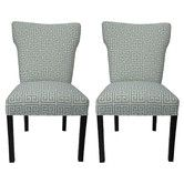 Found it at Wayfair - Melrose Chain Wingback Cotton Slipper Chair