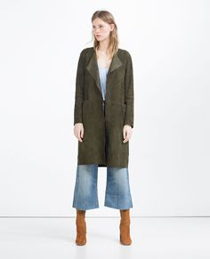 SUEDE COAT - View All - New This Week - Woman - COLLECTION SS16 | ZARA Spain