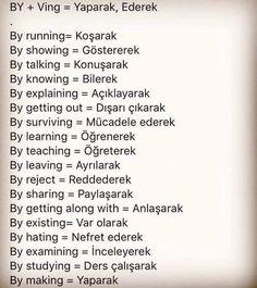 English Learning Spoken, English Language Learning, Language Lessons, English Vocabulary Words, Learn English Words, English Grammar, English Tips, English Lessons, Turkish Lessons
