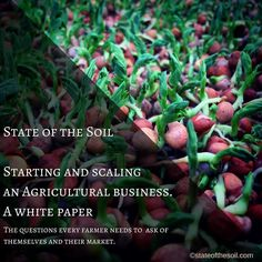 Our industry white paper is now available through our blog in the profile link. I'd love your feed back! #farmersmarket #csa #farm  #hydroponics #aquaponics #stateofthesoil